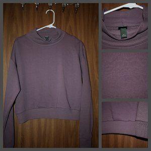 Wild Fable Purple Fleece Lined Crop Top 3/10$🖤
